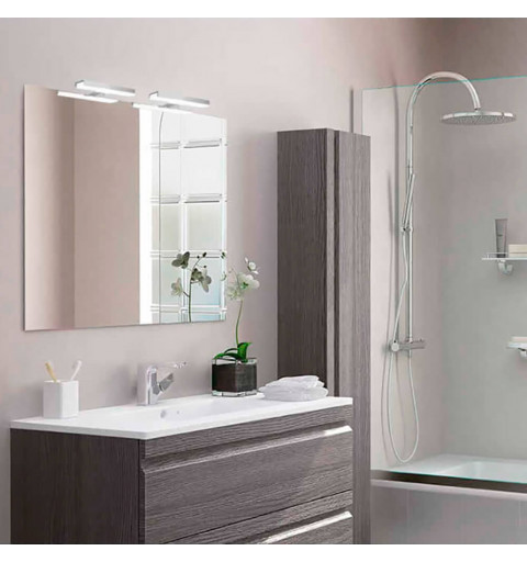 Espejo de baño cuadrado con...